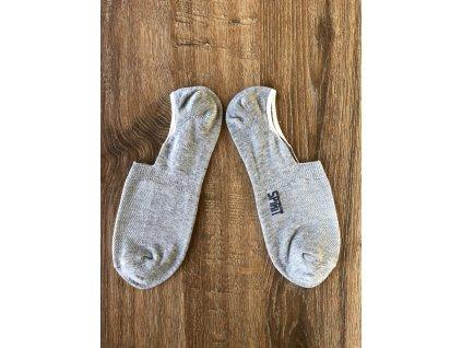 Ponožky footies sv. šedé