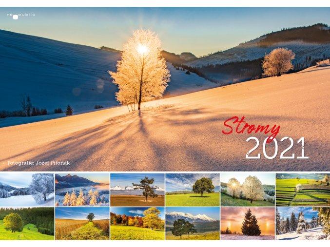 Kalendar Ivet 2021 stromy mesiace republic 14