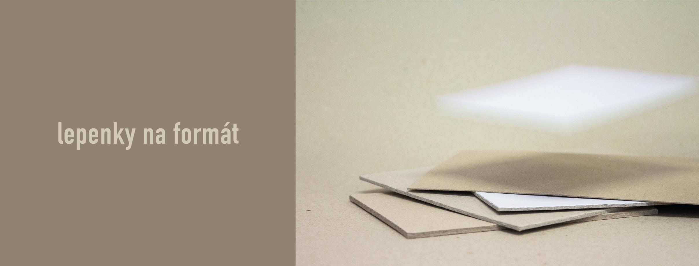 knihařské lepenky na formát