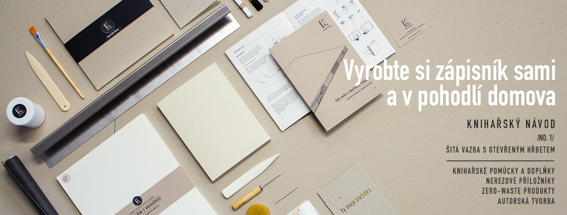 Vyrobte si zápisník sami - Knihařský návod - Knihařský kurz u vás doma