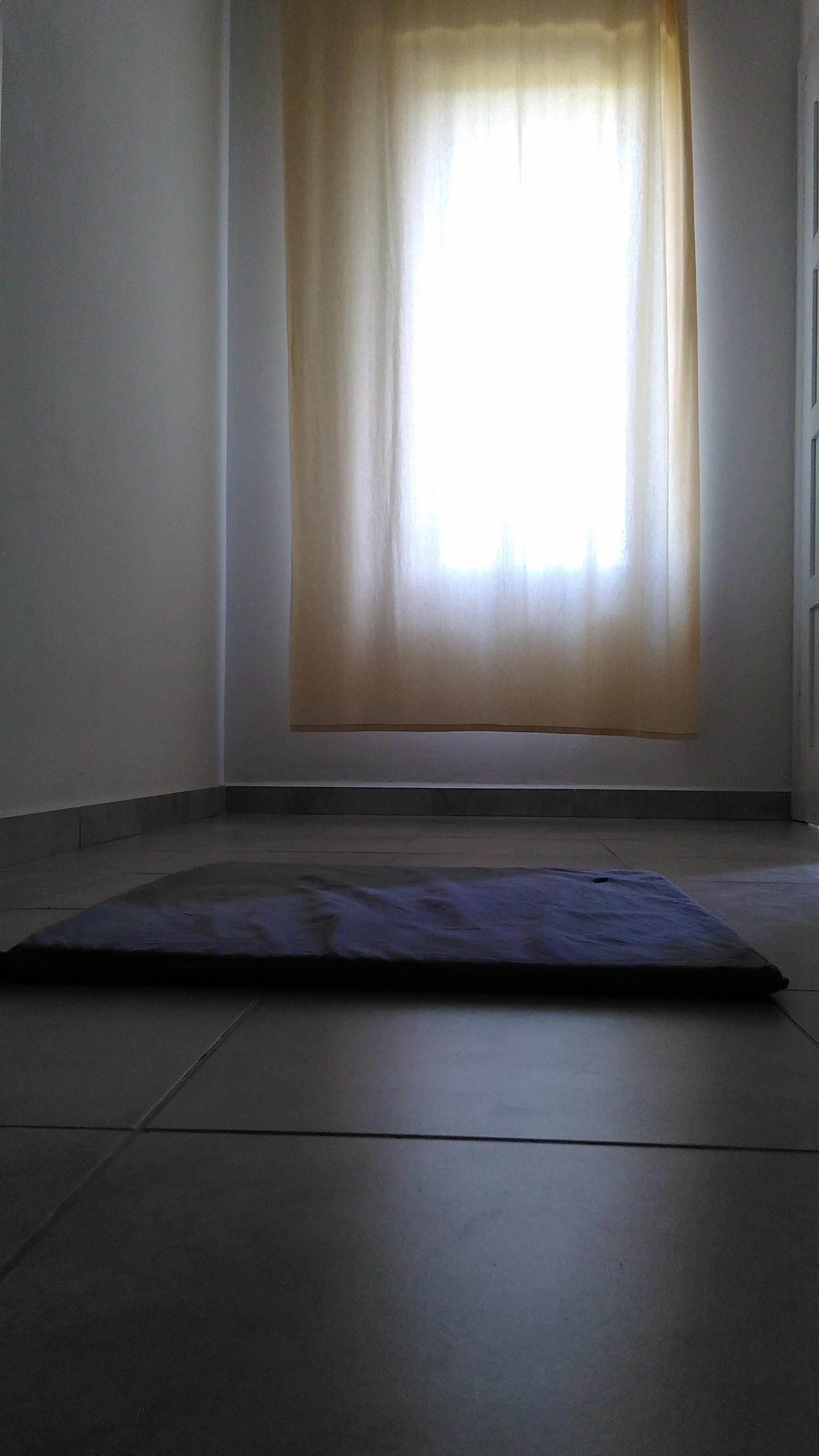 Meditační podložka a polštářek pro meditaci v sedě