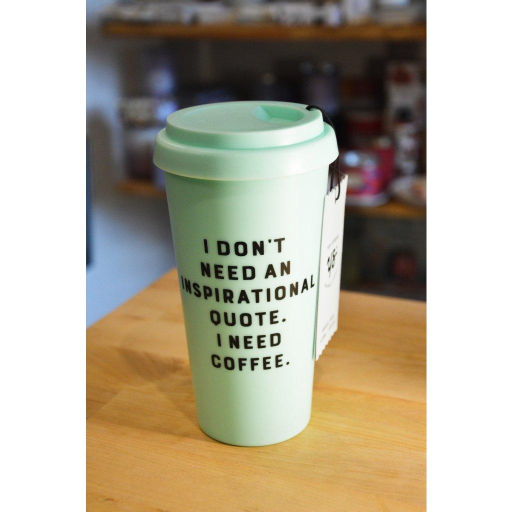 Cestovní plastový pohár mentolově zelený