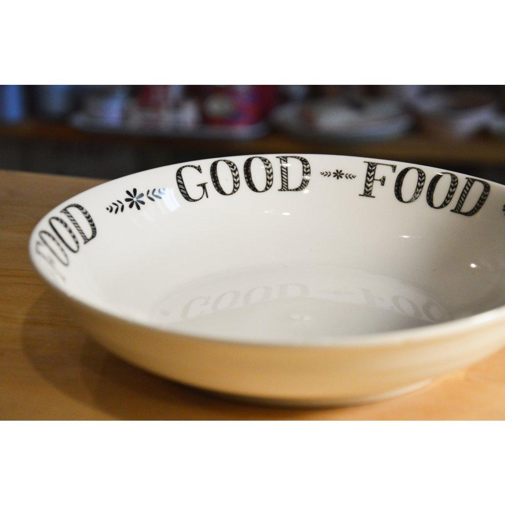 Porcelánový hluboký talíř Good Food - Dobré jídlo