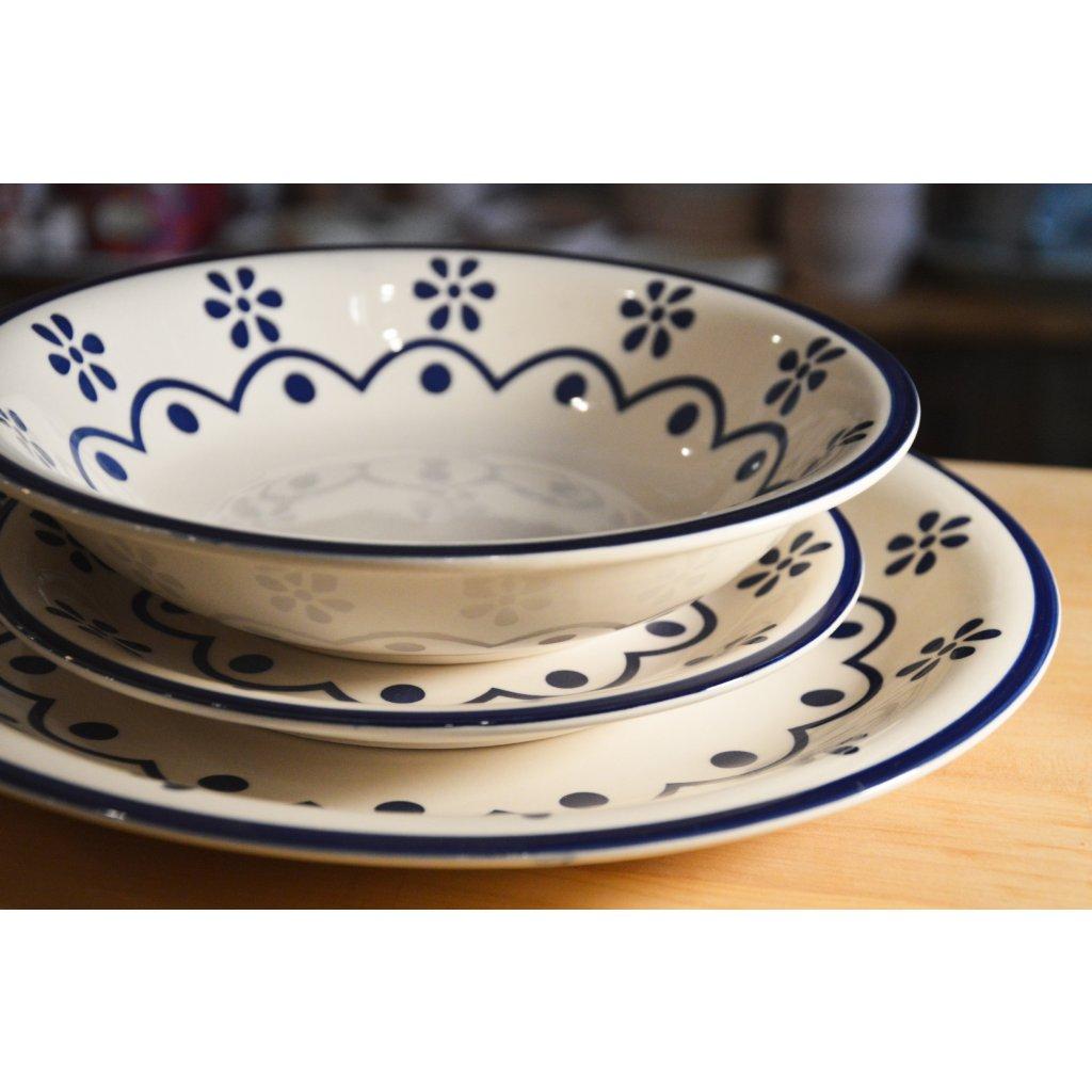 Sada keramických talířů Old Cottage 3 kusy
