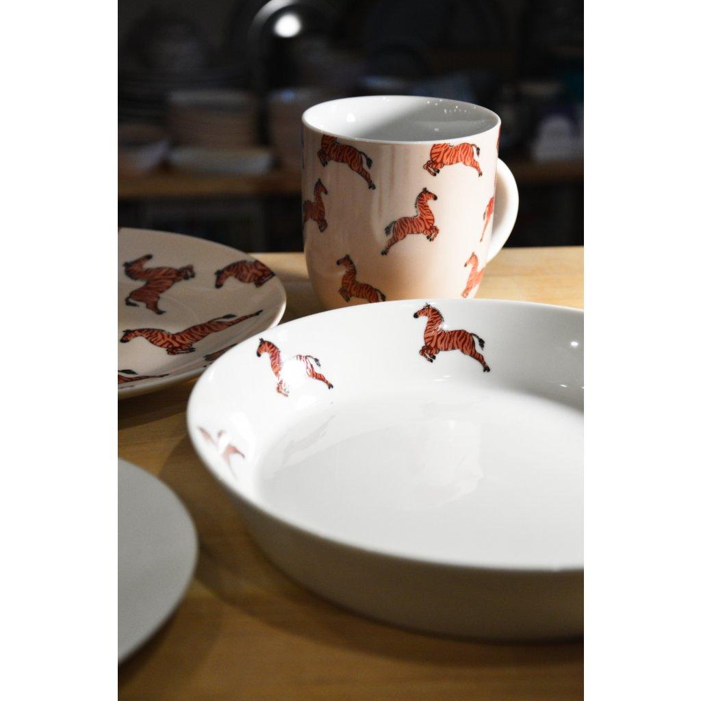 Porcelánový hluboký talíř se Zebrami