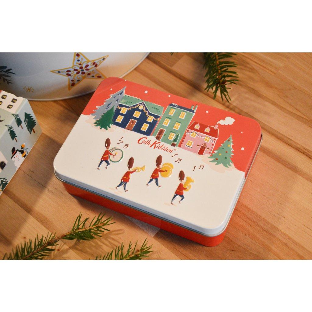 Dárkový box v plechové krabici Christmas Village - Vánoční vesnice