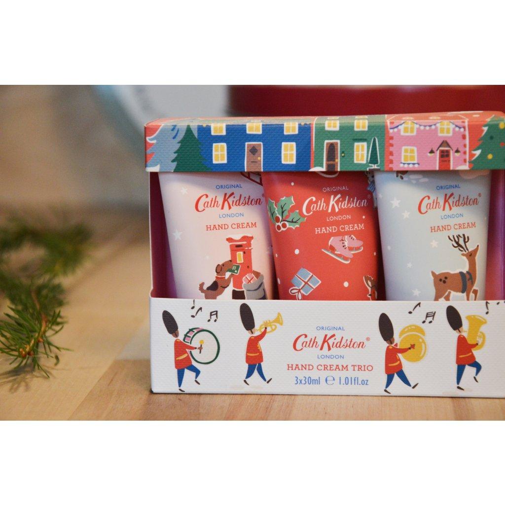 Set krémů na ruce Christmas Village - Vánoční vesnice 3 kusy