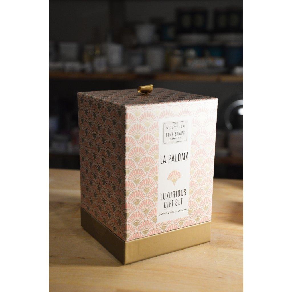 Dárkový box v papírové krabici La Paloma - Luxusní dárková sada