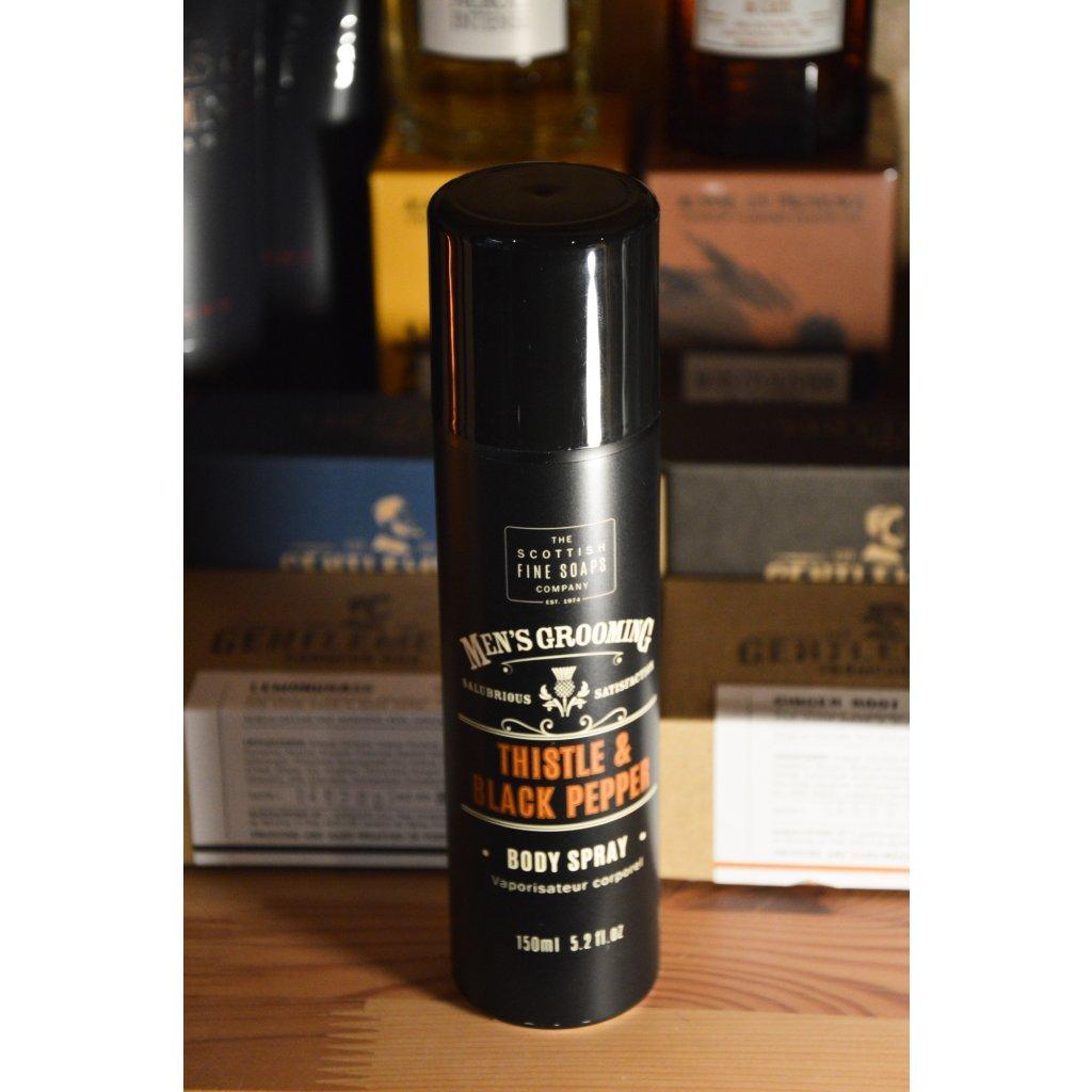 Tělový sprej Thistle and Black Pepper - Bodlák a černý pepř