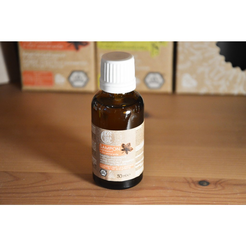 Kaštanový šampón s vůní pomeranče 30 ml
