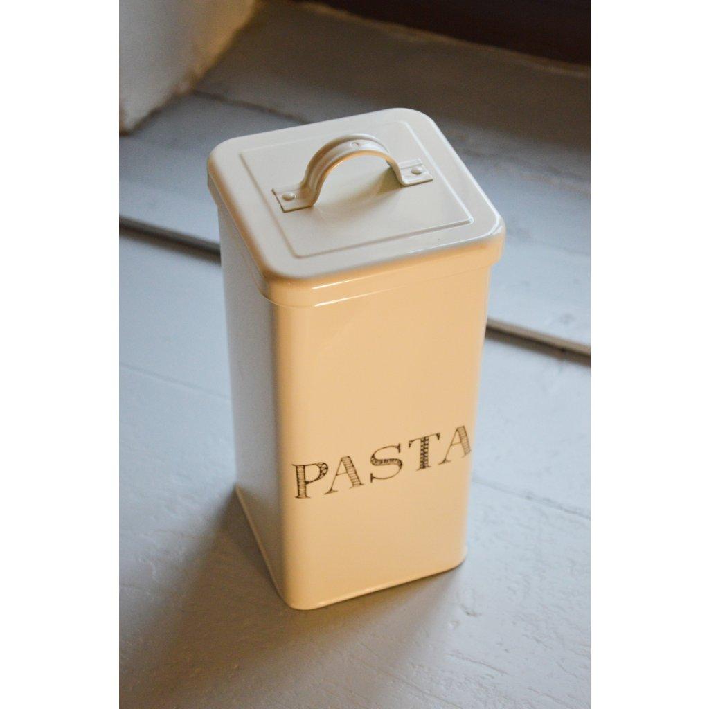 Dóza plechová bílá Pasta - Na těstoviny