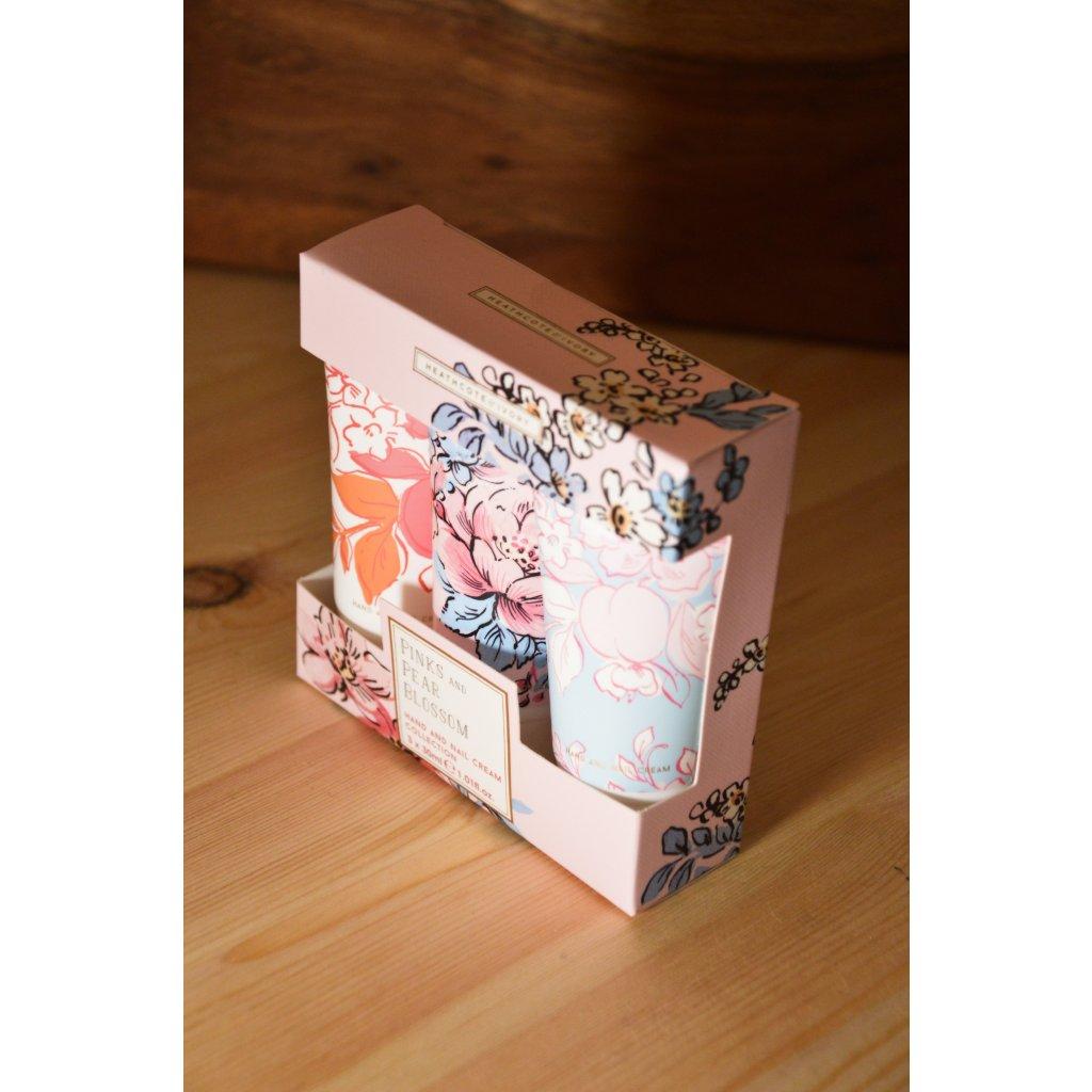 Set krémů na tělo a ruce Pinks and Pear Blossom - Růžové a hruškové květy 3 kusy