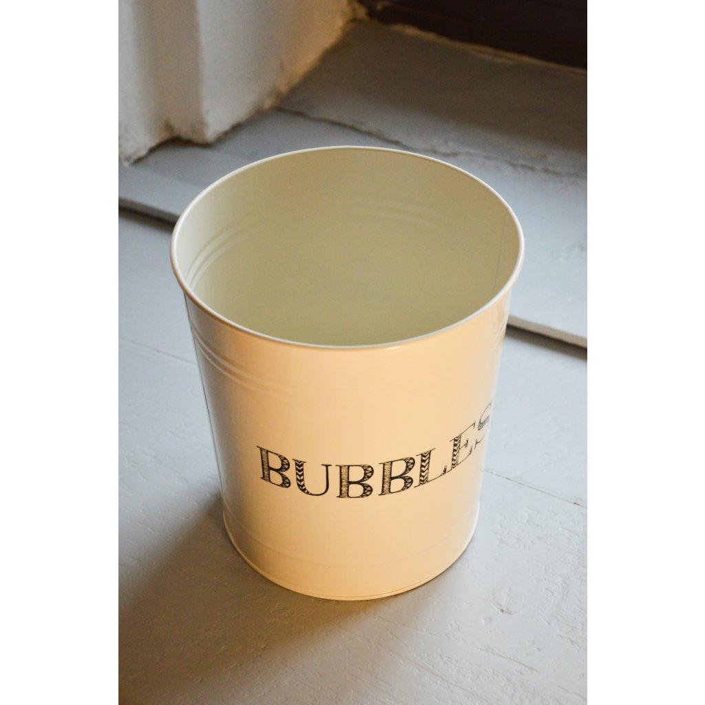Dóza plechová bílá Bubbles - Na bublinky