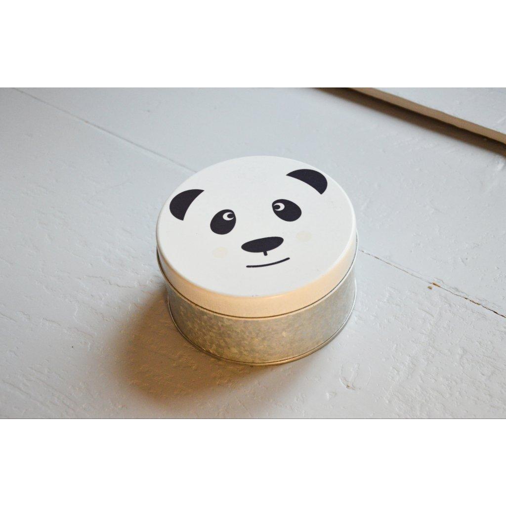 Dóza plechová s víčkem Panda