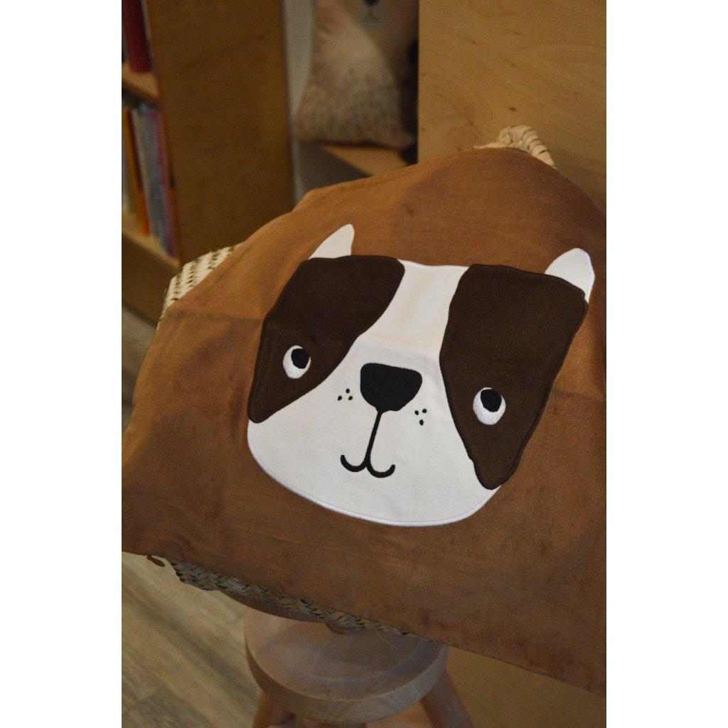 Dětský povlak na polštář Se psí hlavou