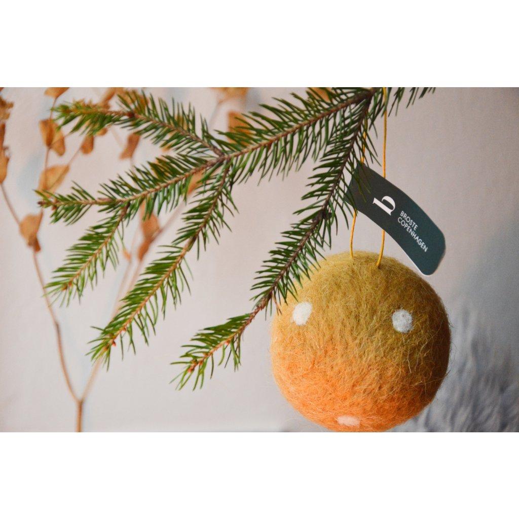 Dekorační koule WOLLIE - skořicová
