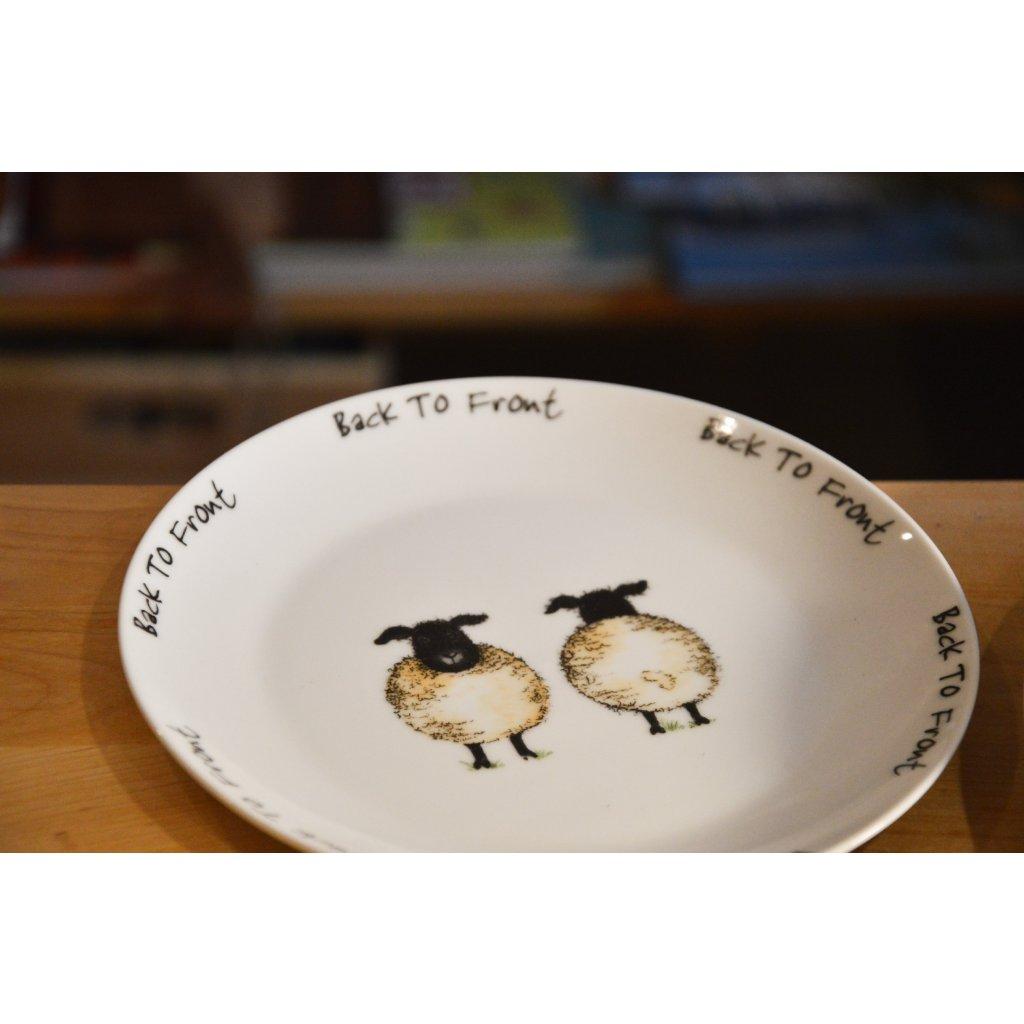 Porcelánový mělký talíř B2F s ovečkami
