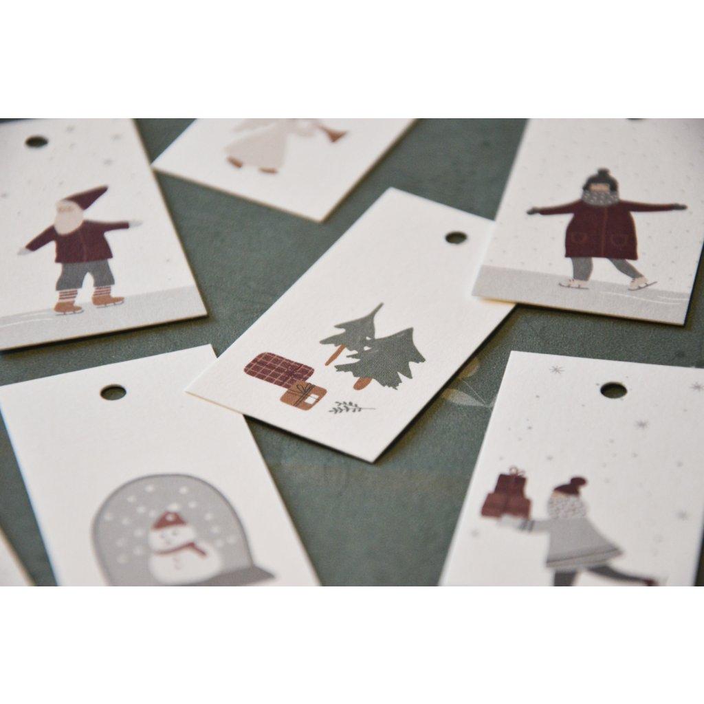 Visačka s Vánoční tématikou - Stromeček s dárky