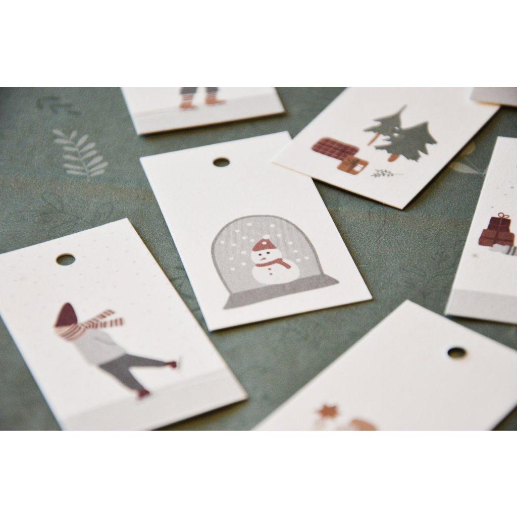 Visačka s Vánoční tématikou - Sněhulák