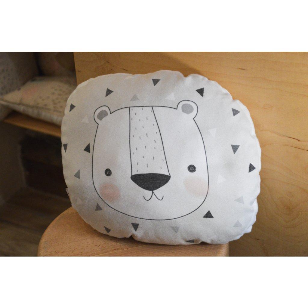 Polštář Lední Medvěd hlava na pozadí