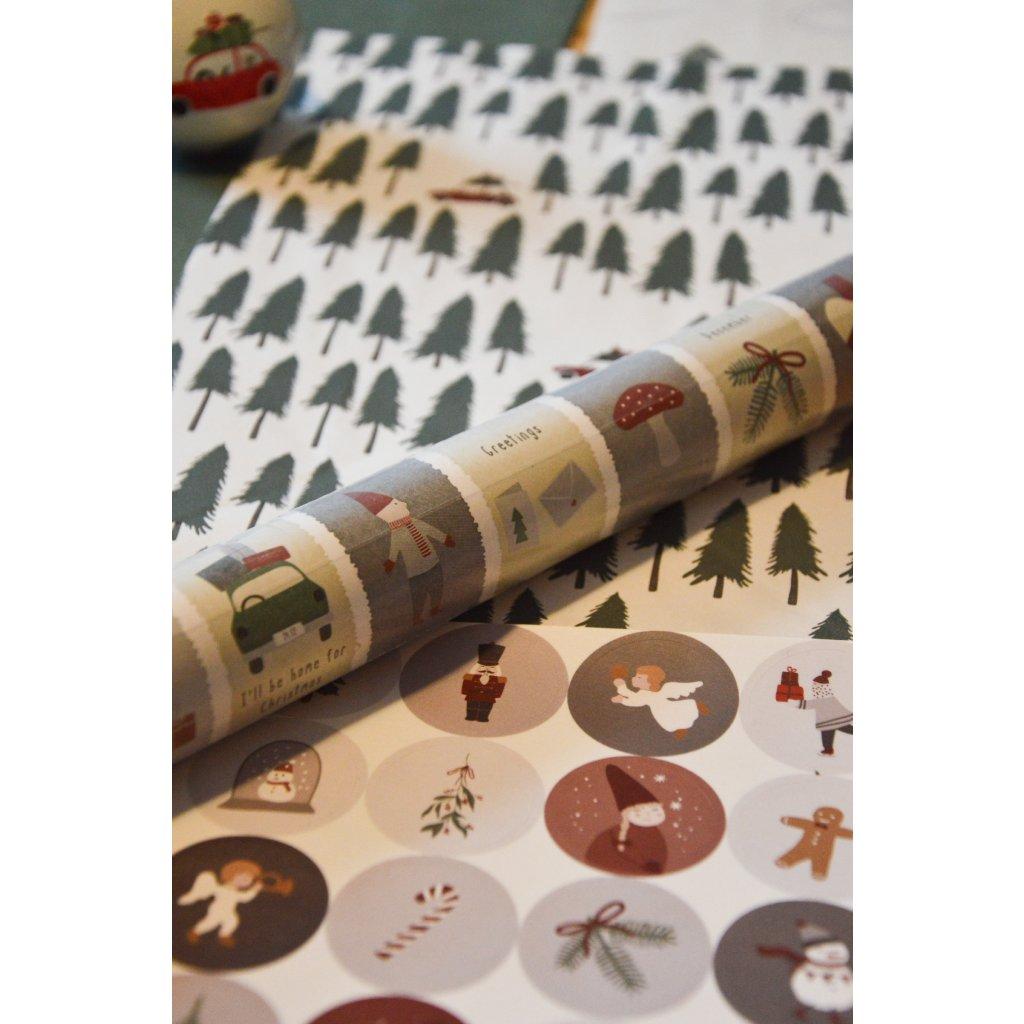 Balící papír na dárky Vánoční