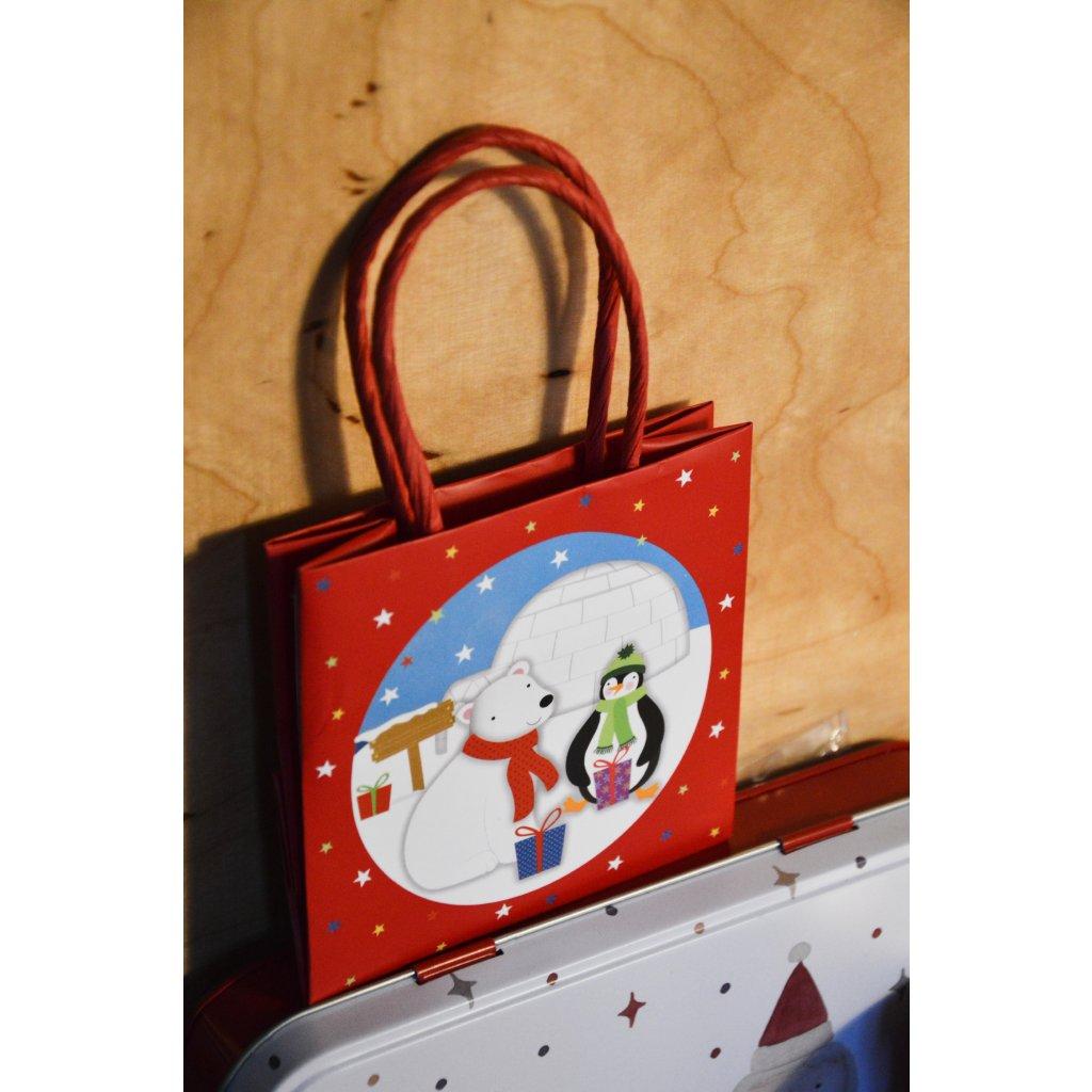 Dárková taška malá červená
