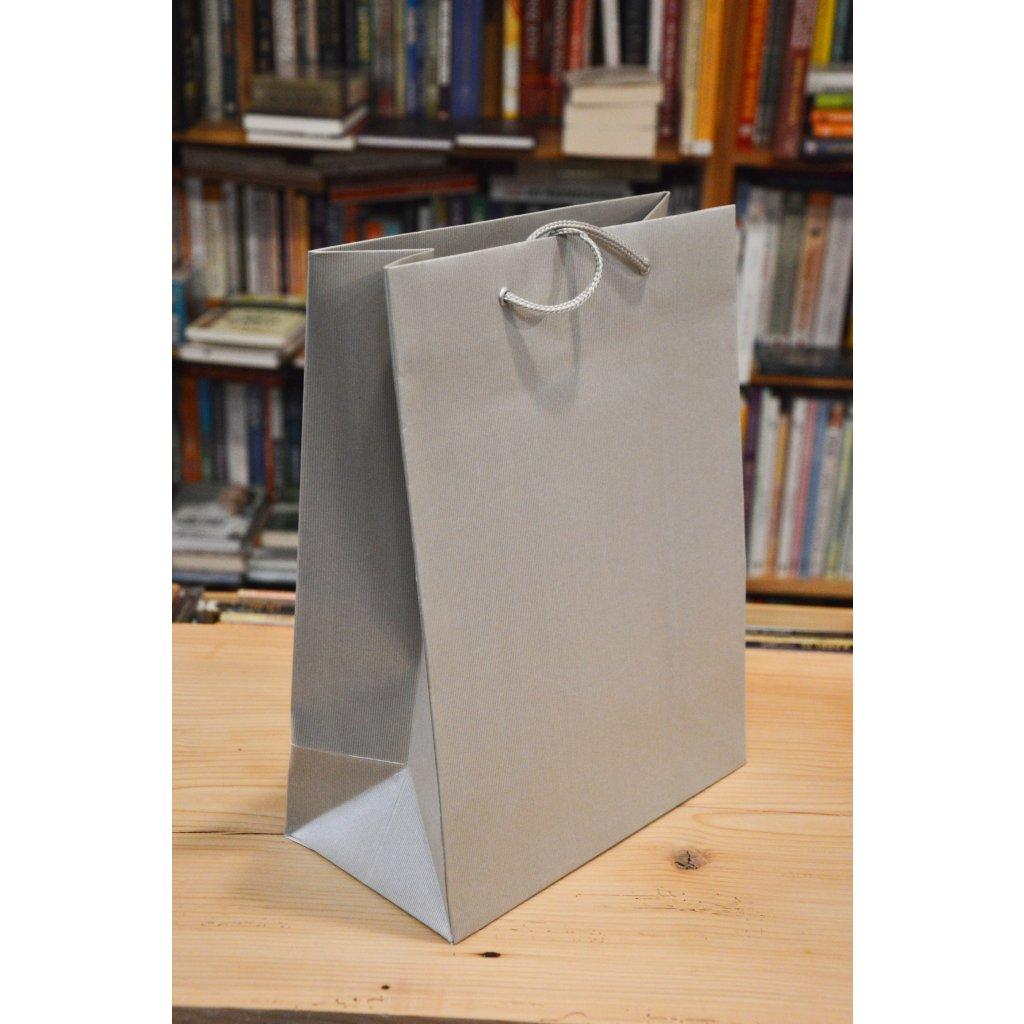 Dárková taška velká Stříbrná