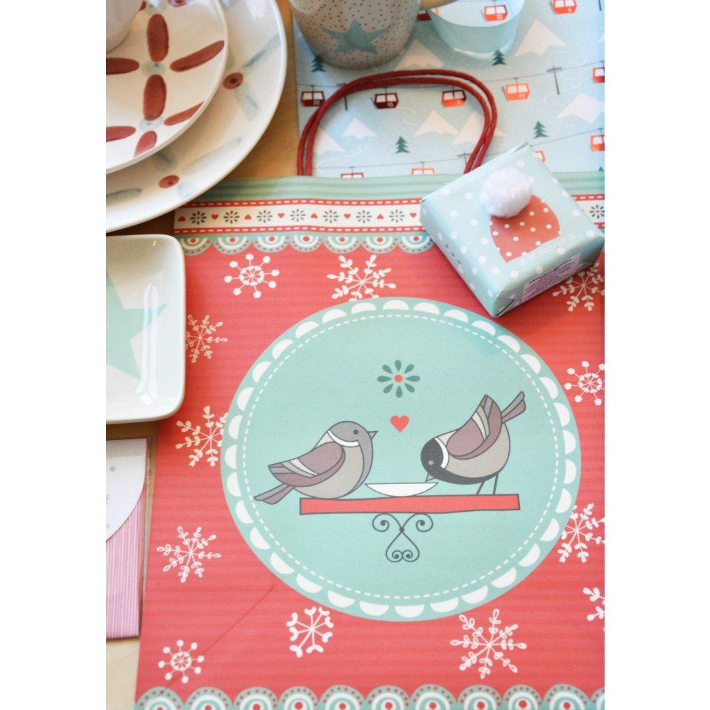 Dárková taška Vánoční s ptáčkem