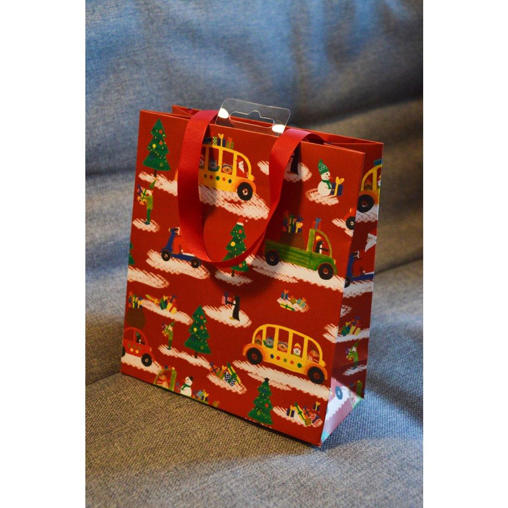 Dárková taška Červená vánoční