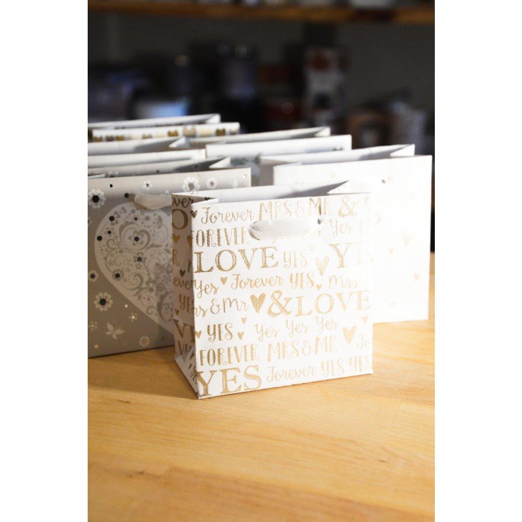 Dárková taška na malý dárek Láska, Ty a já