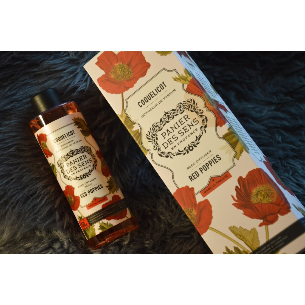 Rákosový difuzér Red Poppies - Červené vlčí máky