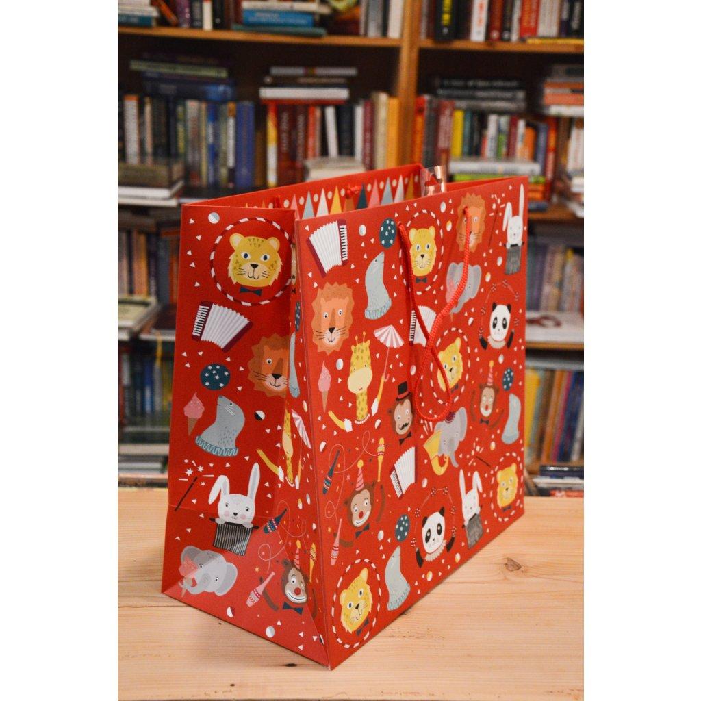 Dárková taška Velká červená pro děti
