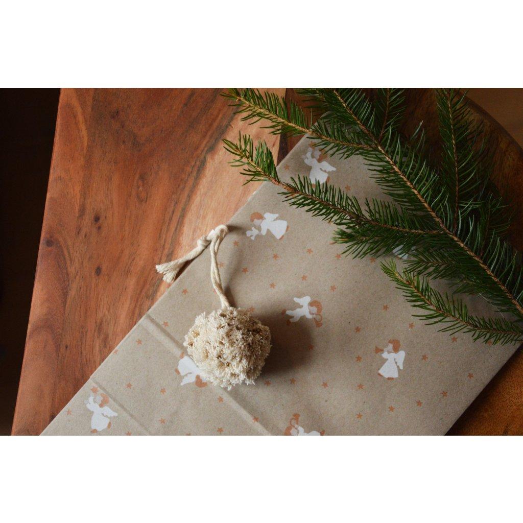 Papírový sáček Vánoční přírodní