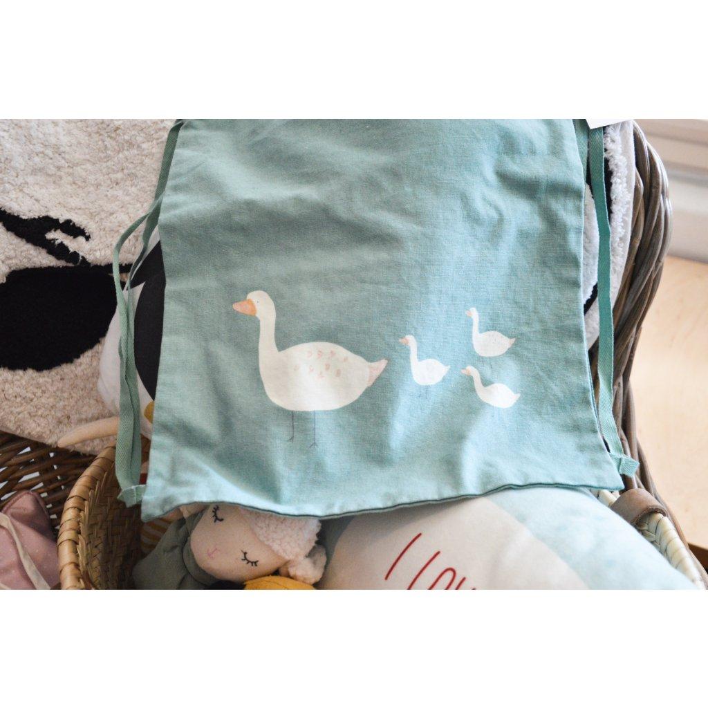 Plátěná taška na záda Husy