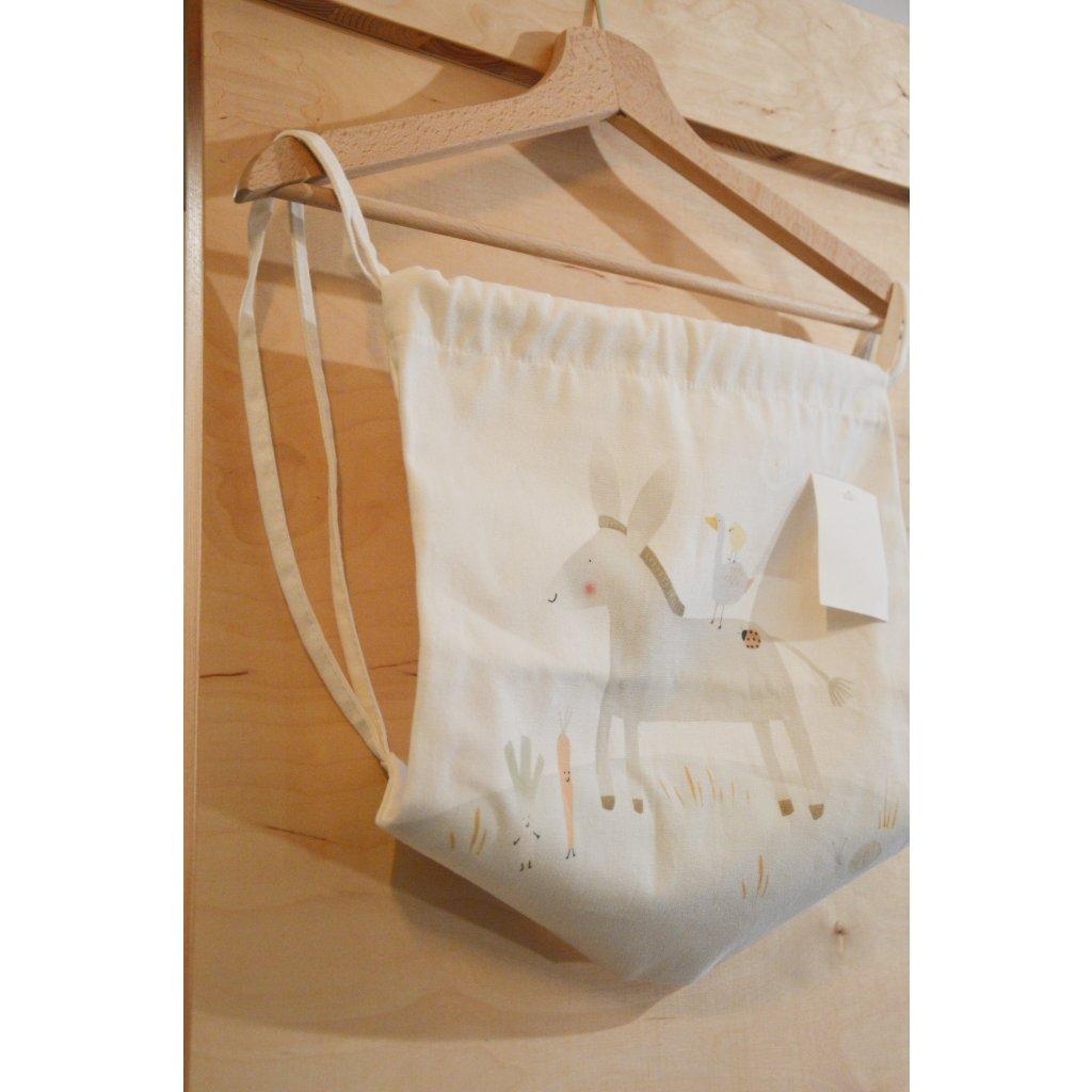 Plátěná taška na záda Oslík