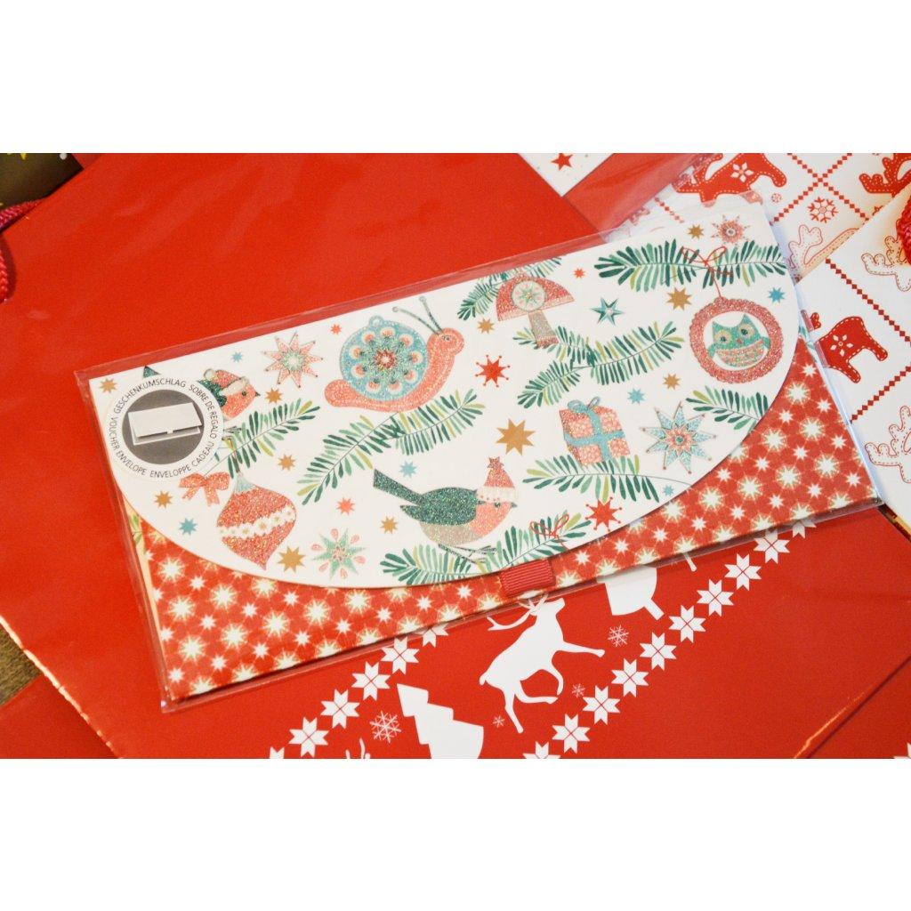 Dárková obálka na peníze či poukaz Vánoční