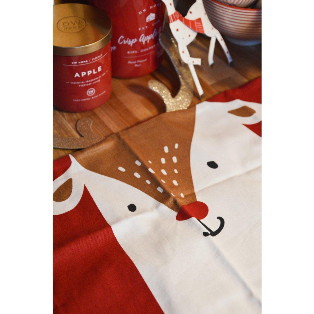 Povlak na polštář Sob vánoční s parožím