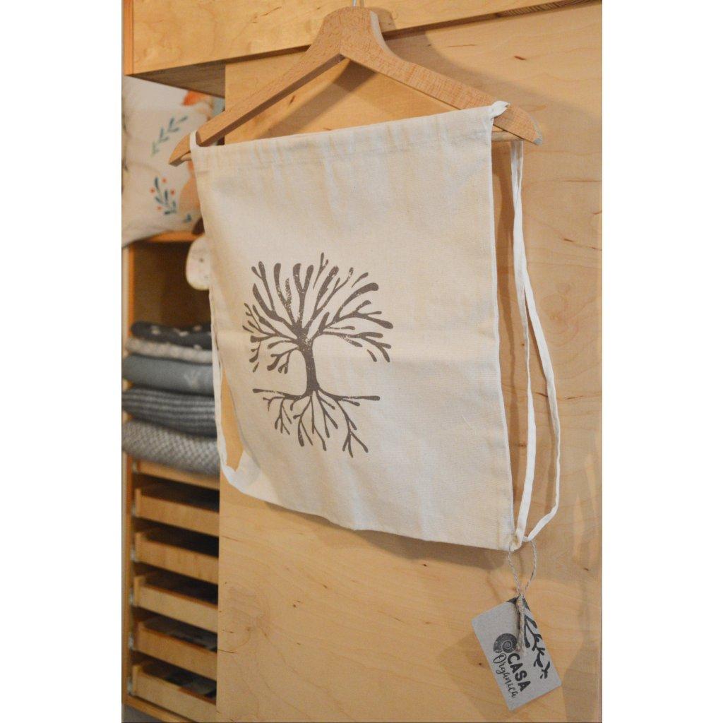 Plátěná taška na záda Biobavlna Strom