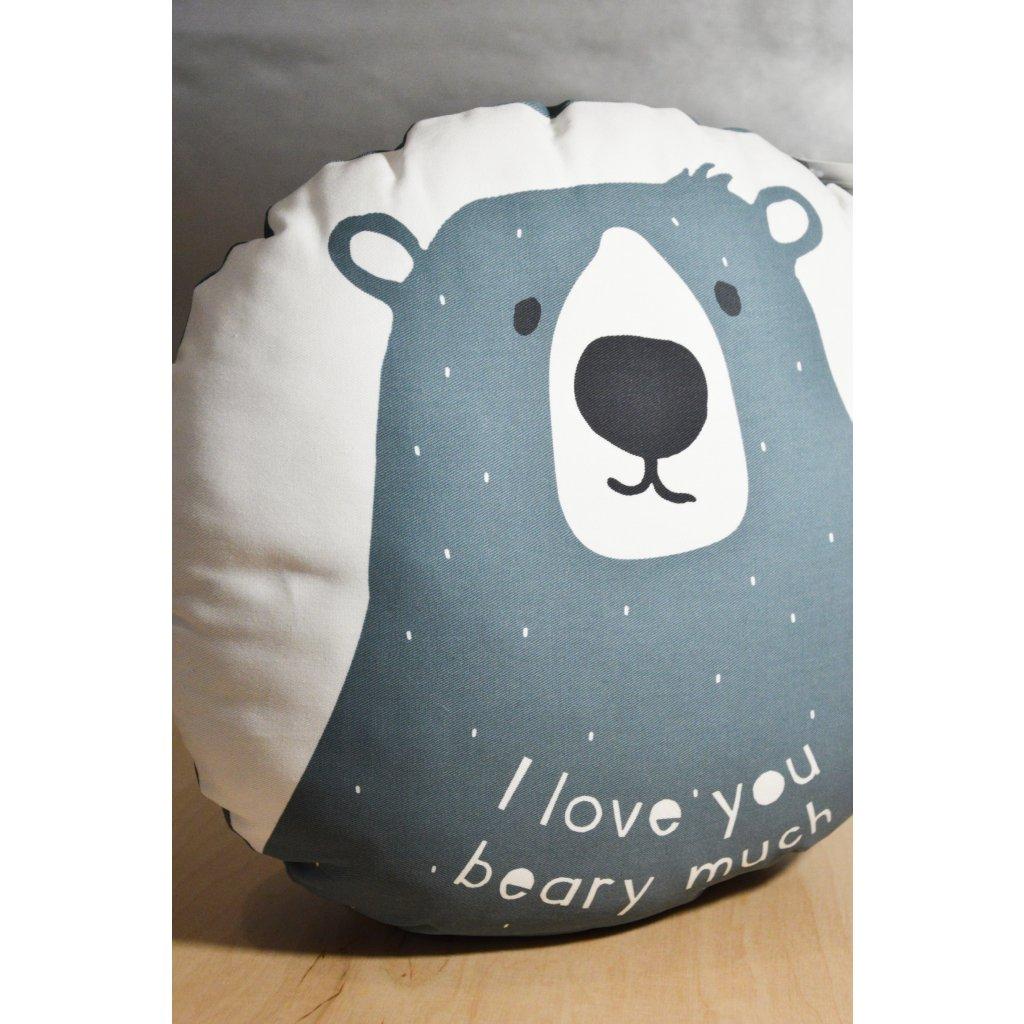 Polštář I Love You Beary Much kulatý