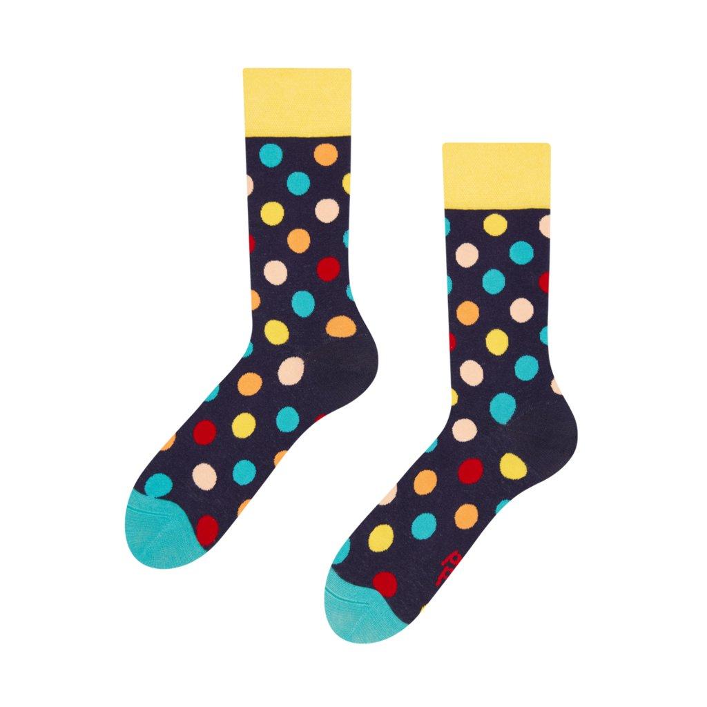 Ponožky Barevné puntíky