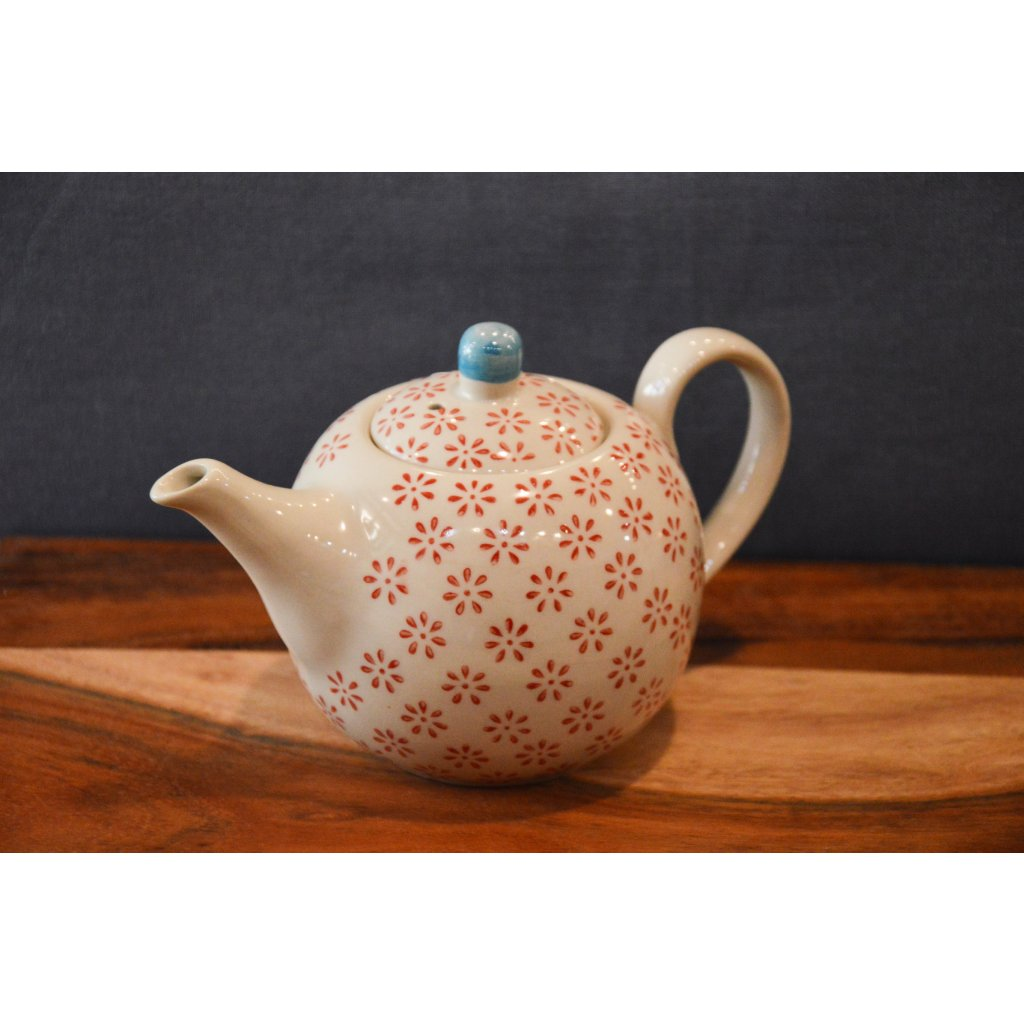 Konvice keramická na čaj se vzorem