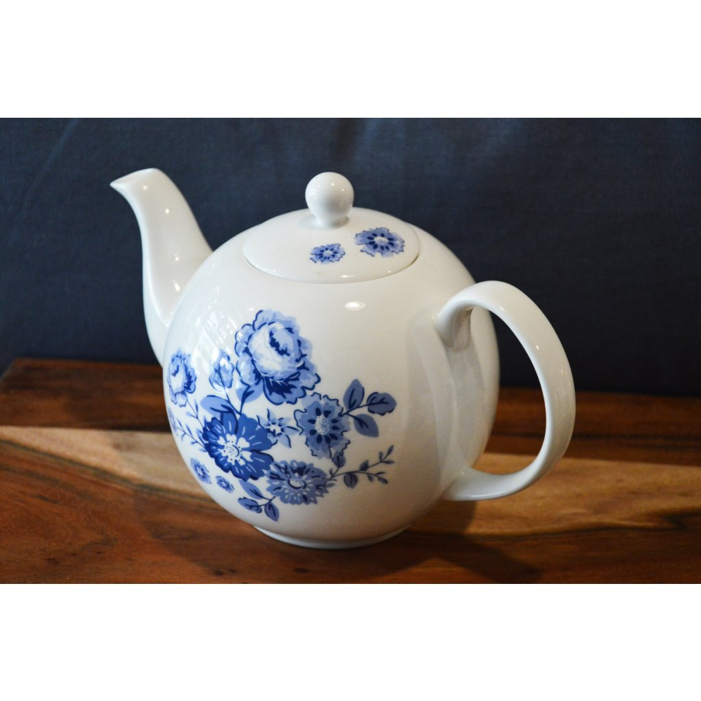 Konvice porcelánová na čaj velká modrobílá