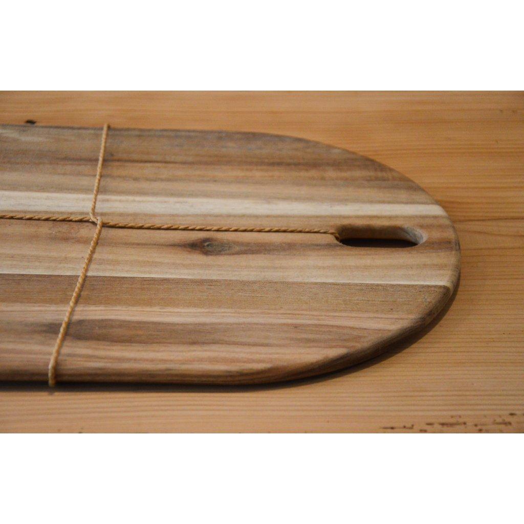 Prkénko dřevěné oválné
