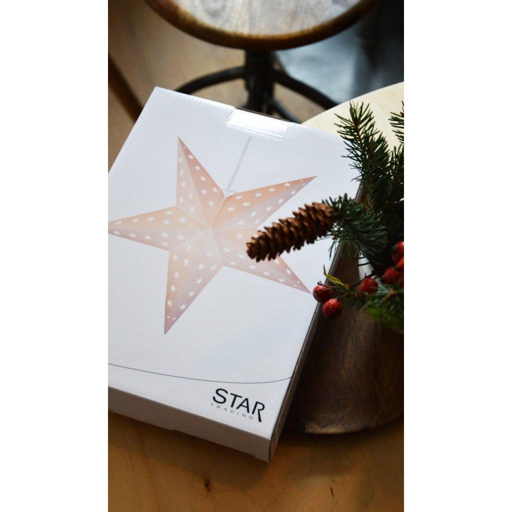 závěsná hvězda svítící