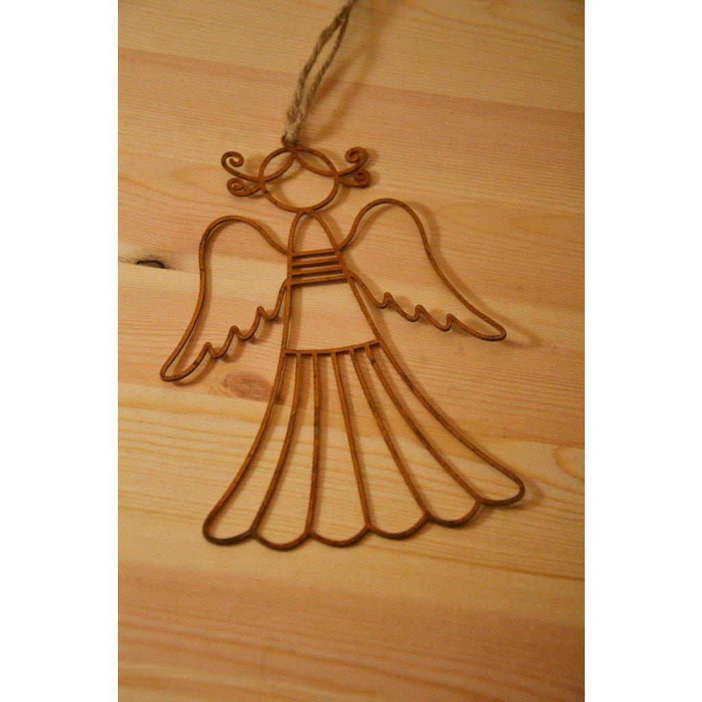 Závěsná kovová ozdoba Andílek