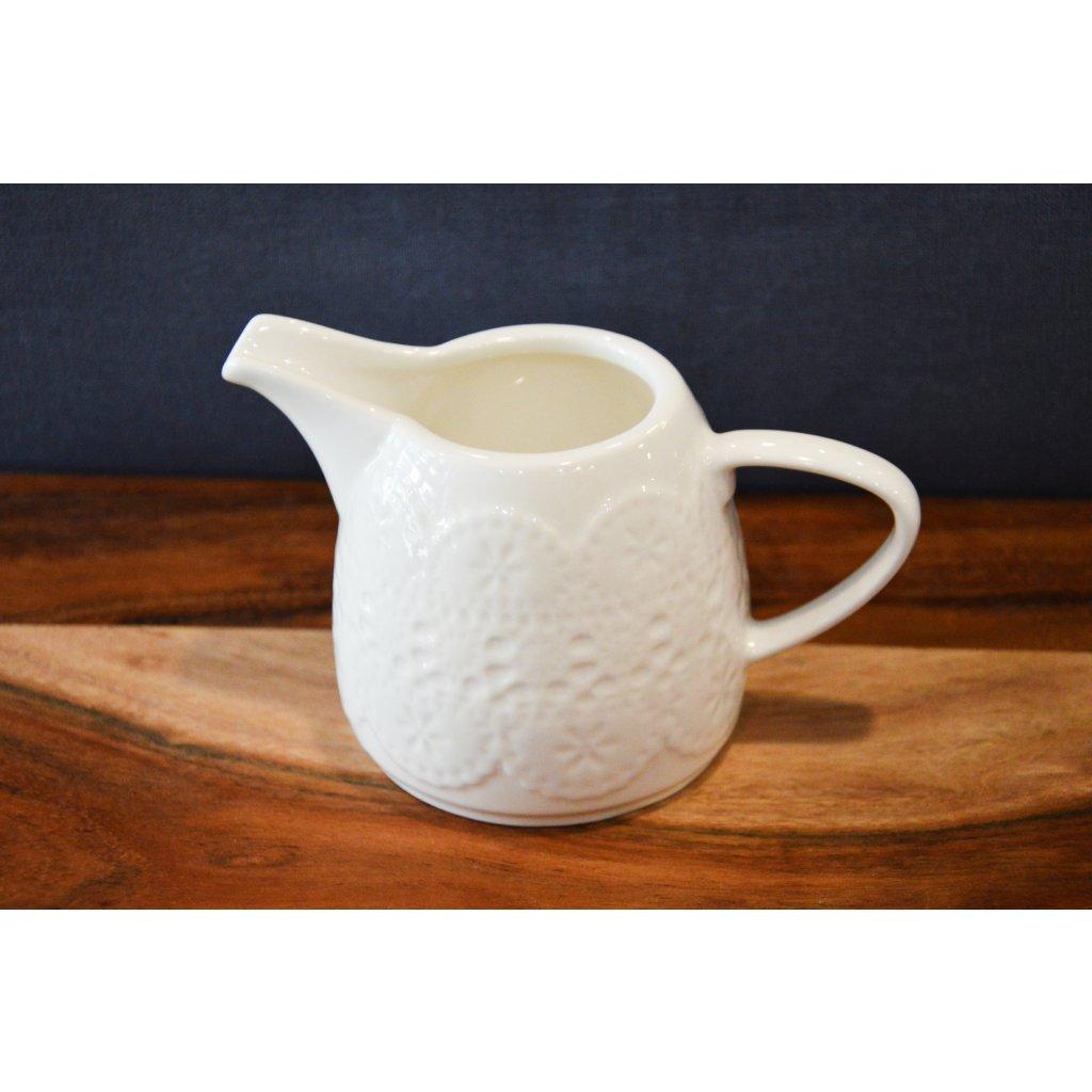Mléčenka keramická Bílá