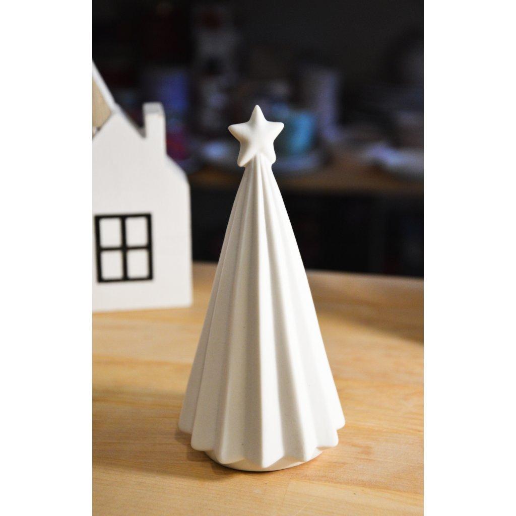 Keramický stromeček bílý