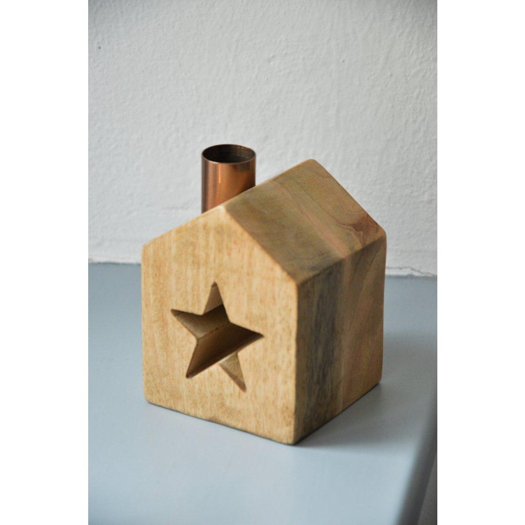 Dřevěná dekorace Domeček