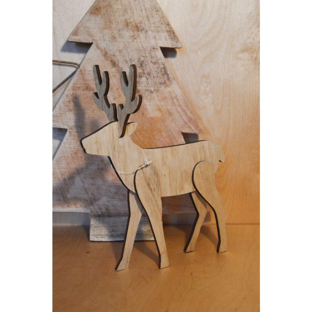 Dřevěná dekorace Sob tenký