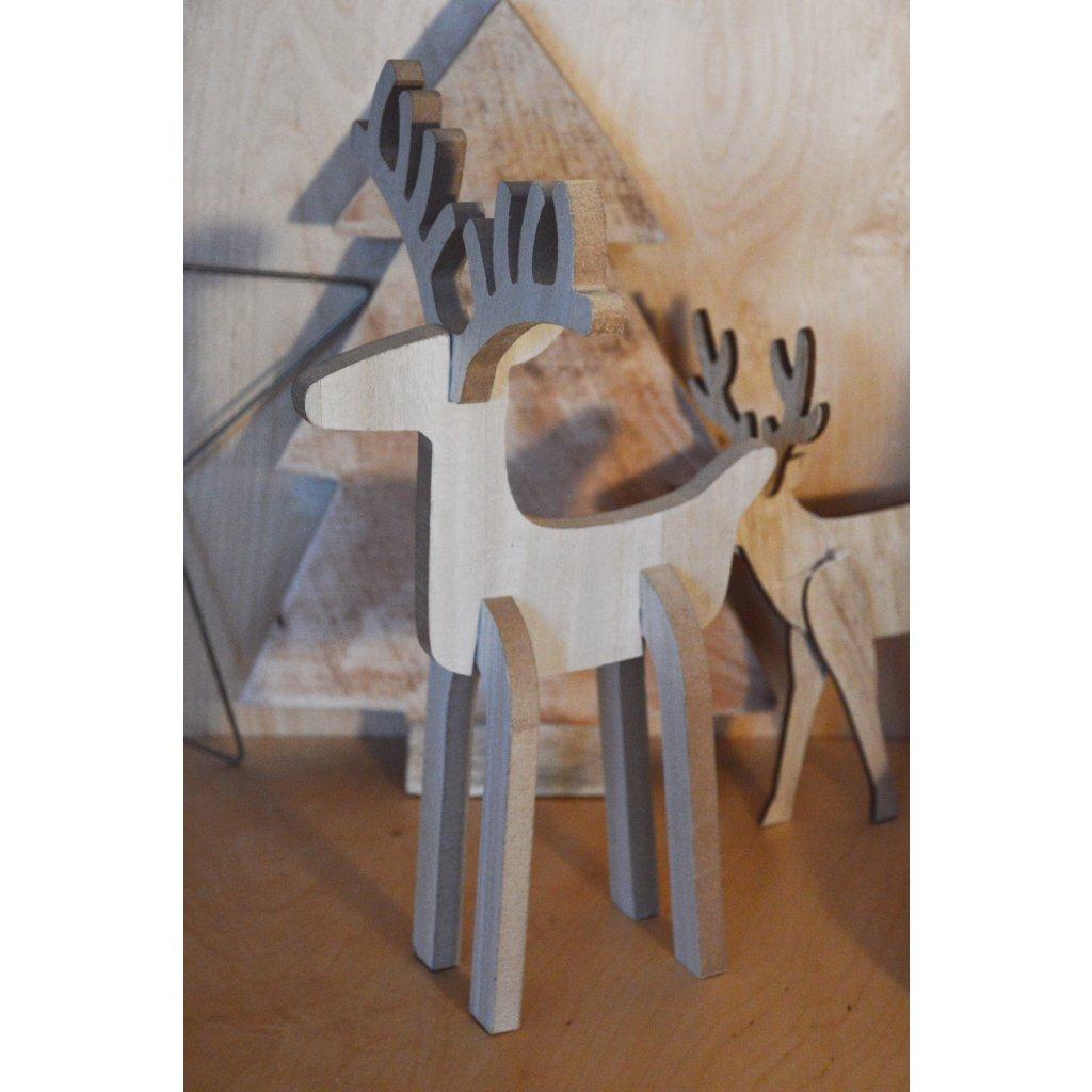 Dřevěná dekorace Sob